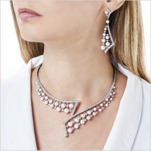 Yoko London Raindrop Necklace with Akoya Pearls and Diamonds