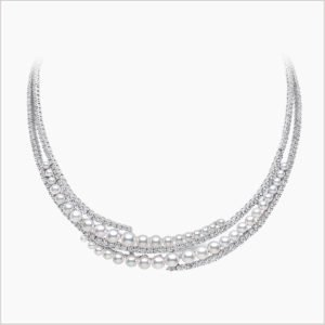 Yoko London Raindrop Diamond and Akoya Pearl Necklace