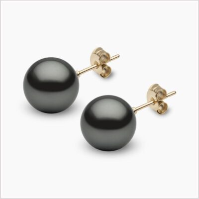 Yoko London Classic Tahitian Pearl Stud Earrings
