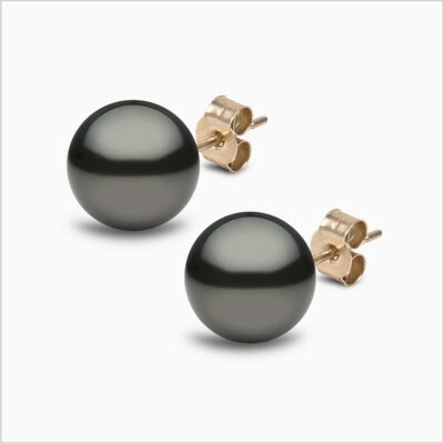 Yoko London Classic Tahitian Pearl Stud Earrings