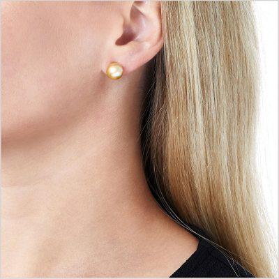 Yoko London Classic Golden South Sea Pearl Earrings