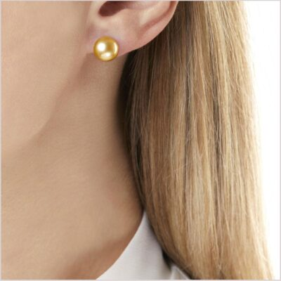 Yoko London Classic Golden South Sea Pearl Stud Earring