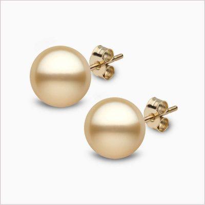 Yoko London Classic Golden South Sea Pearl Stud Earring