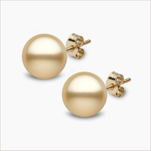 Yoko London Classic Golden South Sea Pearl Stud Earrings