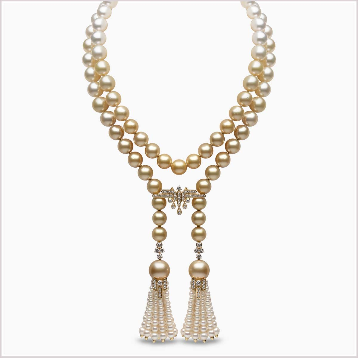 Yoko London Tassel Diamond, Golden South Sea, South Sea & Freshwater Pearl Necklace