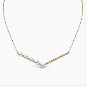 Yoko London Trend Freshwater Pearl and Diamond Necklace