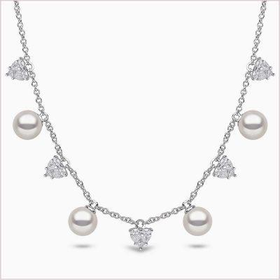 Yoko London Starlight Diamond and Akoya Pearl Necklace