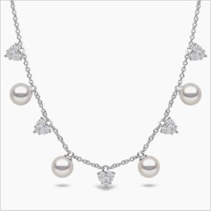 Yoko London Starlight Diamond and Akoya Pearl Necklace