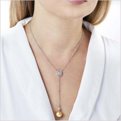 Yoko London Starlight Diamond and South Sea Pearl Necklace