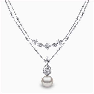 Yoko London Starlight Diamond and Golden South Sea Pearl Necklace