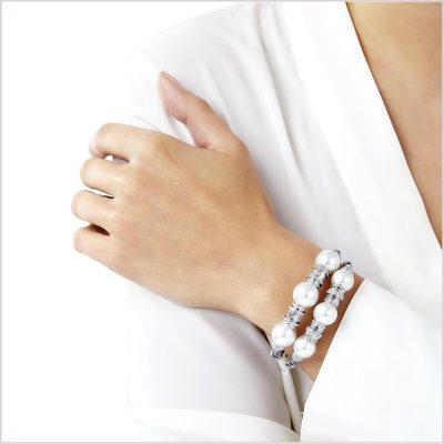 Yoko London Starlight South Sea Pearl and Diamond Bracelets