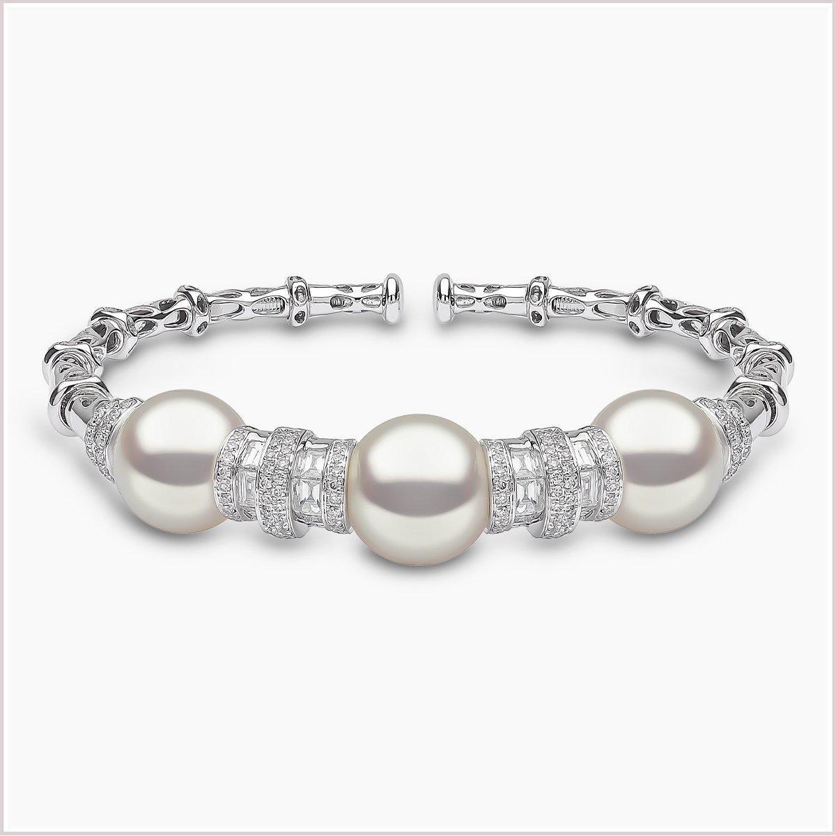 Yoko London Starlight Diamond and South Sea Pearl Bracelet