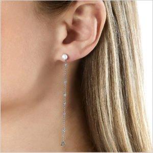 Yoko London Trend Diamond and Freshwater Pearl Earrings