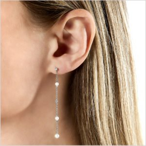 Yoko London Diamond and Freshwater Pearl Earrings