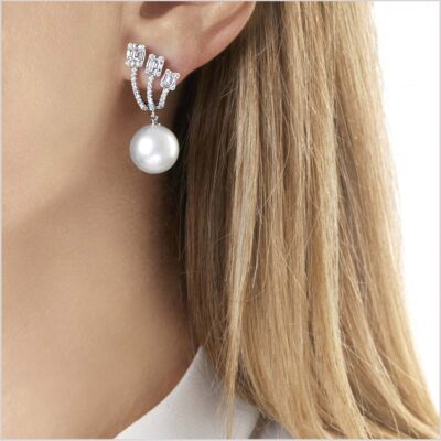 oko London Starlight Diamond and South Sea Pearl Earrings