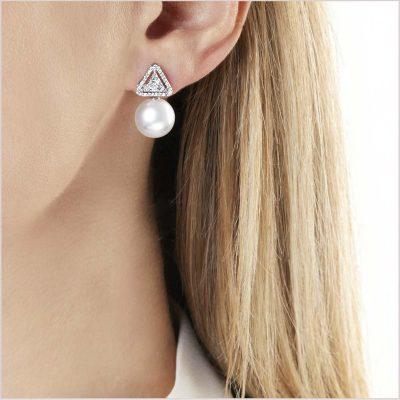 Yoko London Starlight Diamond and South Sea Pearl Earrings