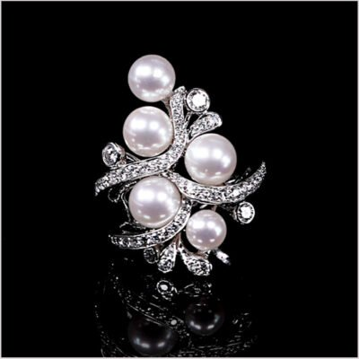 """<span id=""""product-title"""">RAINDROP </span><br><span id=""""product-description"""">AKOYA PEARL AND DIAMOND RING IN 18CT WHITE GOLD</span>"""