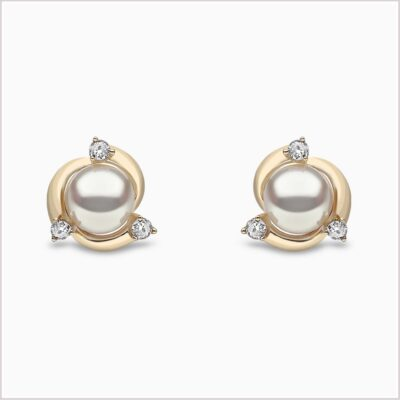 Yoko London Trend Diamond and Freshwater Pearl Earrings