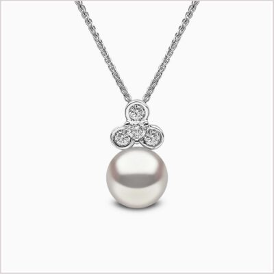 Yoko London Trend Diamond and Freshwater Pearl Pendant