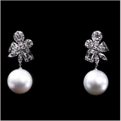 """<span id=""""product-title"""">STARLIGHT </span><br><span id=""""product-description"""">SOUTH SEA PEARL AND DIAMOND EARRINGS IN 18CT WHITE GOLD</span>"""