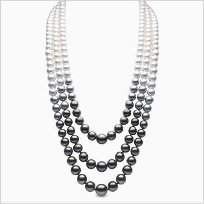 Yoko London Ombré Tahitian and Akoya Pearl Necklace