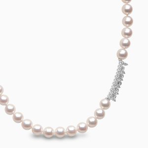Yoko London Classic Diamond and Akoya Pearl Strand