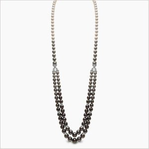 Yoko London Ombré Diamond, Tahitian Pearl and Akoya Pearl Necklace