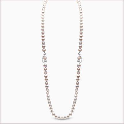 Yoko London Ombré Diamond, Akoya Pearl and Freshwater Pearl Necklace
