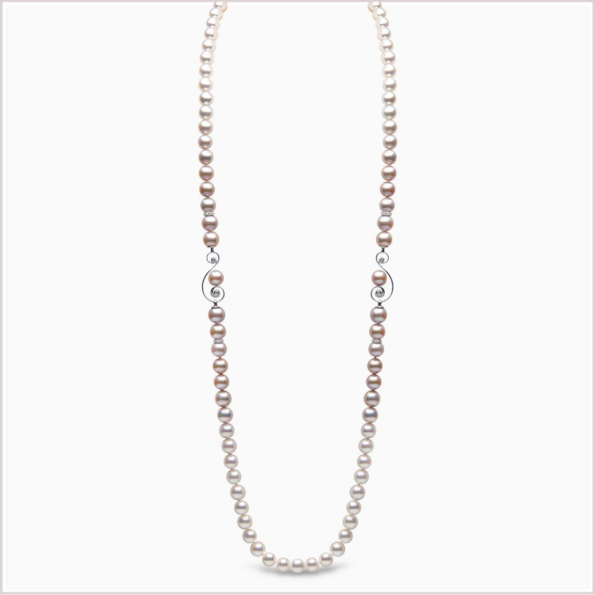 Yoko London Ombré Diamond, Akoya Pearl and Freshwater Pearl Necklace