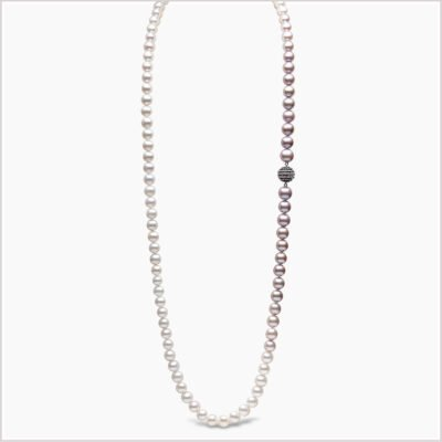 Yoko London Ombré Freshwater Pearl and Sapphire Necklace