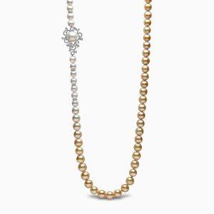 Yoko London Ombré Diamond, South Sea, Golden South Sea Pearl Necklace