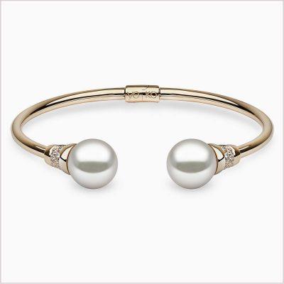 Novus Diamond and Freshwater Pearl Bracelet - Yoko London
