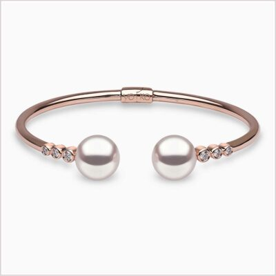 Yoko London Novus Diamond and Pearl Bracelet
