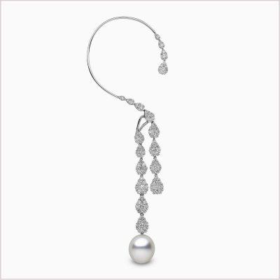 Yoko London Novus Diamond and South Sea Pearl Ear Cuff