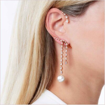 """<span id=""""product-title"""">NOVUS </span><br><span id=""""product-description"""">SOUTH SEA PEARL AND DIAMOND EAR CUFF IN 18CT ROSE GOLD</span>"""