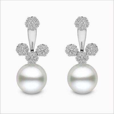 Yoko London Novus Diamond and South Sea Pearl Ear Jackets