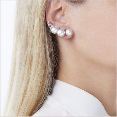 Yoko London Novus South Sea Pearl and Diamond Ear Jacket