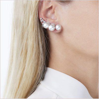 Yoko London Novus South Sea Pearl and Diamond Ear Jacket