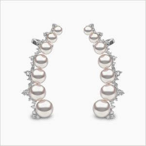 Yoko London Novus Diamond and Akoya Pearl Ear Climbers