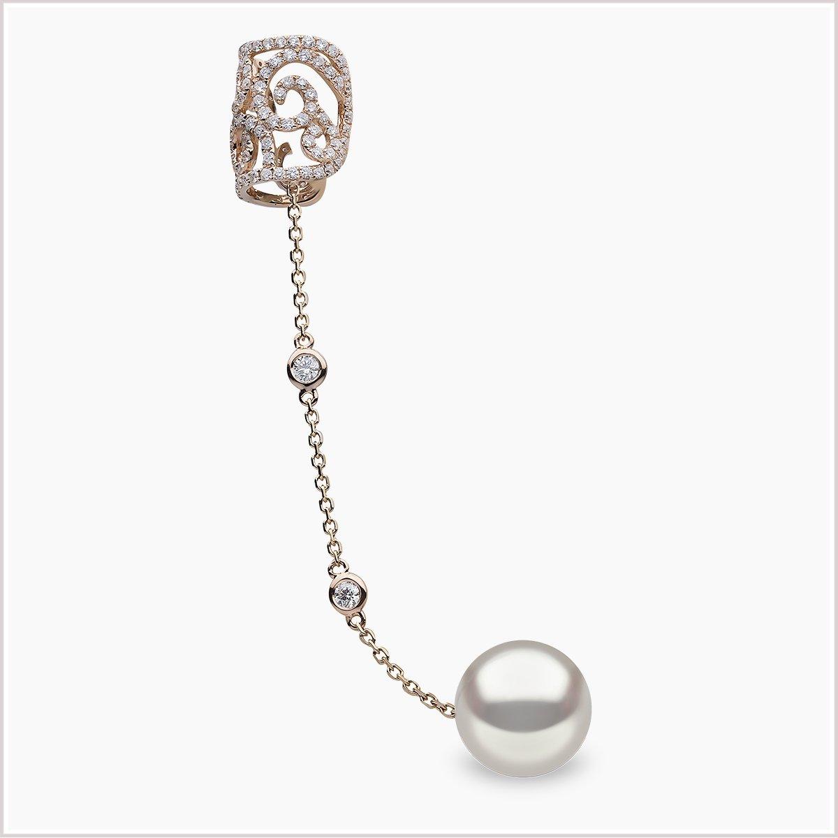 Yoko London Novus Diamond and Freshwater Pearl Earring