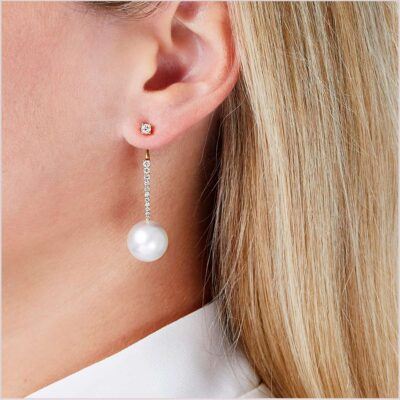 Yoko London Novus Diamond and Freshwater Pearl Ear Jacket