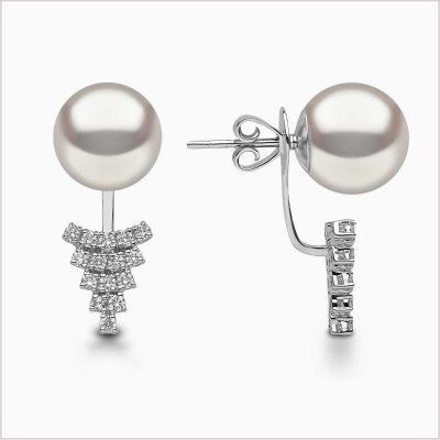 Yoko London Novus Diamond and Freshwater Pearl Ear Jackets