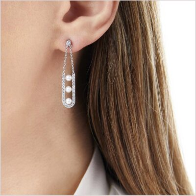 Yoko London Sleek Diamond and Akoya Pearl Earrings