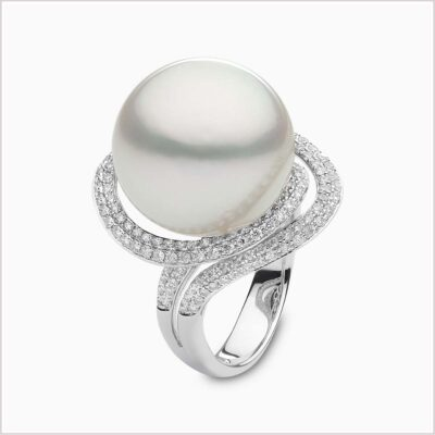 Yoko London Mayfair Diamond and South Sea Pearl Ring