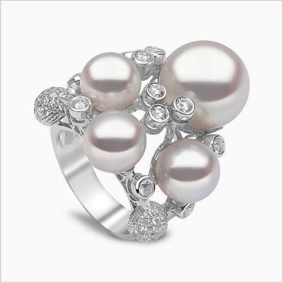 Yoko London Mayfair Diamond and South Sea Pearl Ring