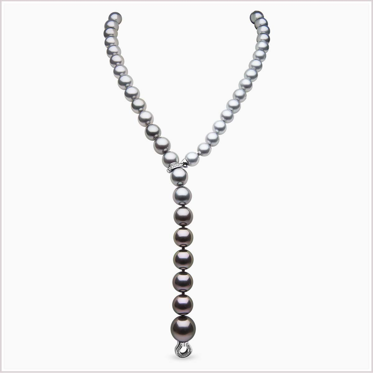 Yoko London Twilight Diamond and Tahitian Pearl Necklace