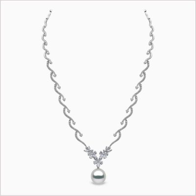 Yoko London Petal Diamond and South Sea Pearl Necklace