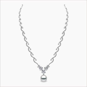 Yoko London Petal Diamond and South Sea Pearl Necklace