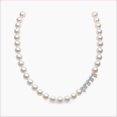 Yoko London Classic Diamond and Akoya Pearl Necklace