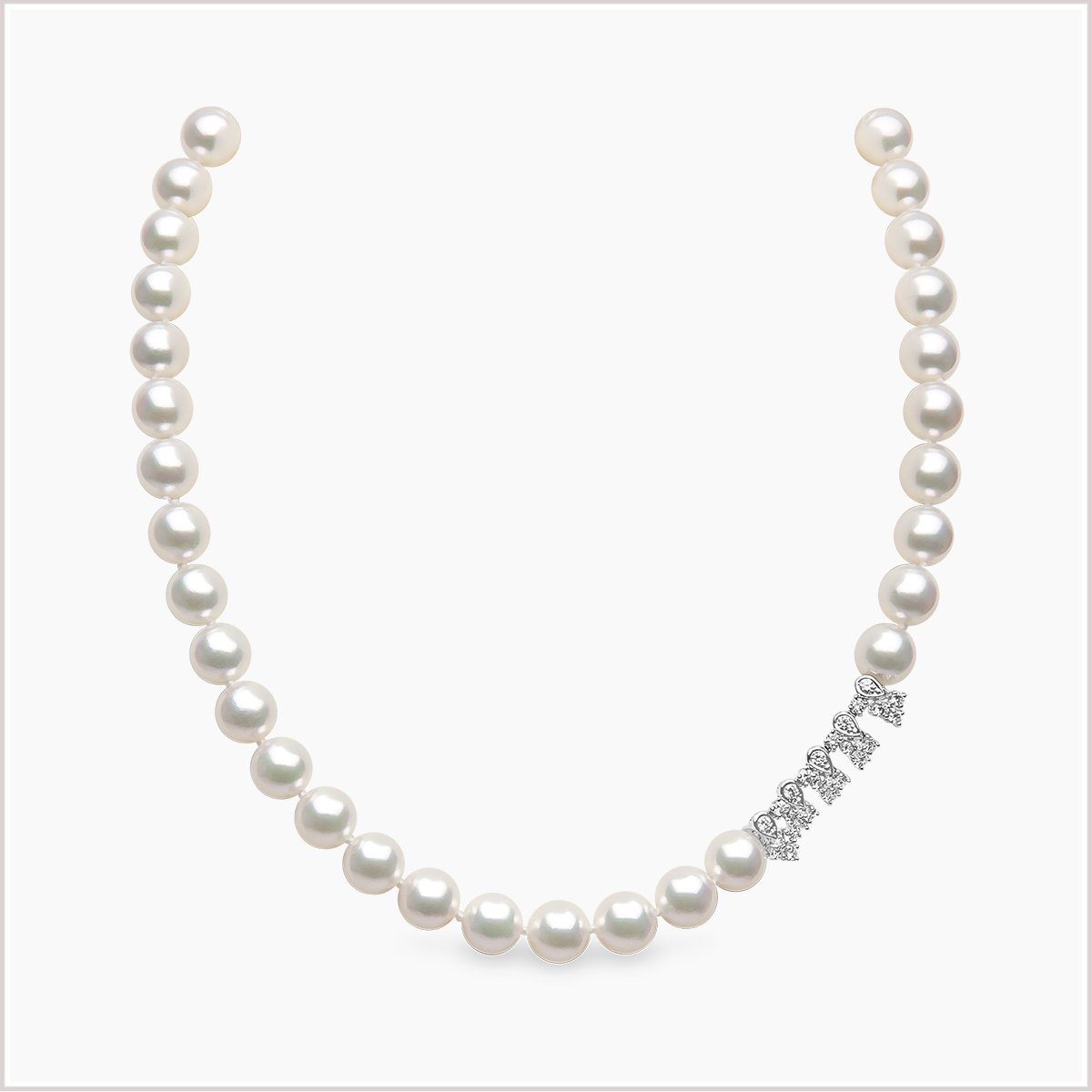 Yoko London Classic Diamond and Akoya Pearl Necklace